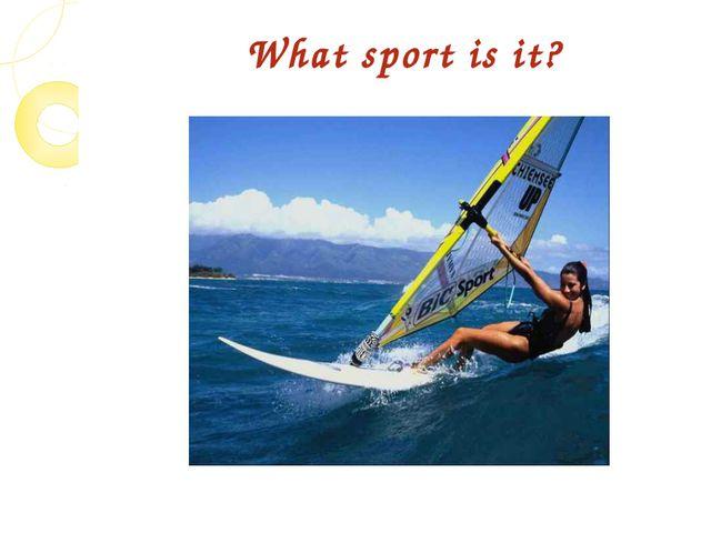 What sport is it?