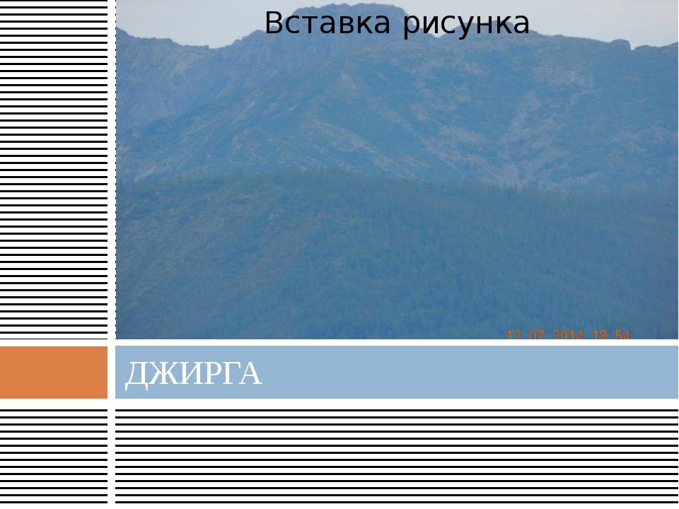 ДЖИРГА
