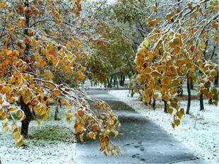 Какая погода бывает осенью?