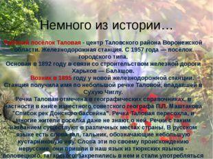 Рабочий посёлок Таловая - центр Таловского района Воронежской области. Желез
