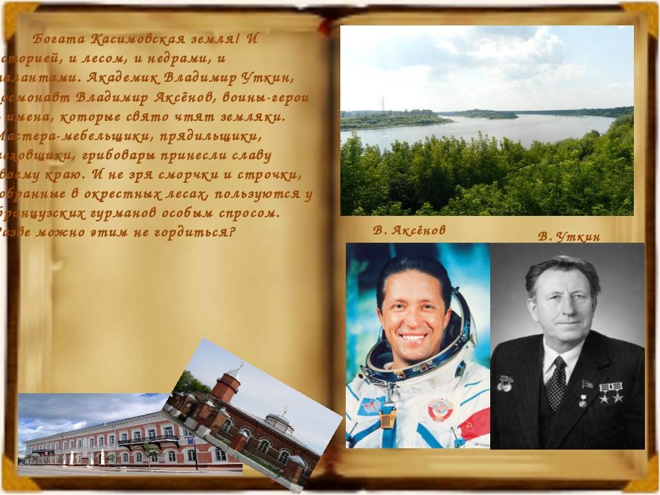 Богата Касимовская земля! И историей, и лесом, и недрами, и талантами. Акаде...