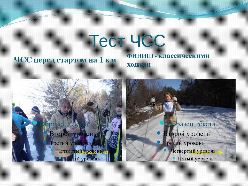 Тест ЧСС ЧСС перед стартом на 1 км ФИНИШ - классическими ходами
