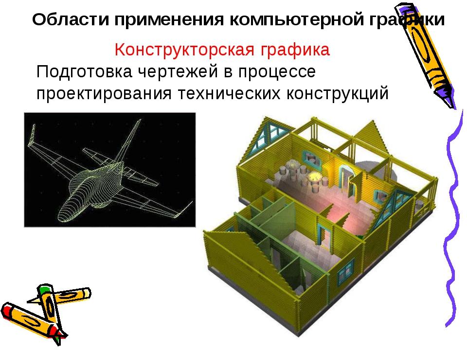 Области применения компьютерной графики Конструкторская графика Подготовка че...