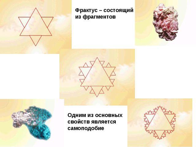 Одним из основных свойств является самоподобие Фрактус – состоящий из фрагмен...