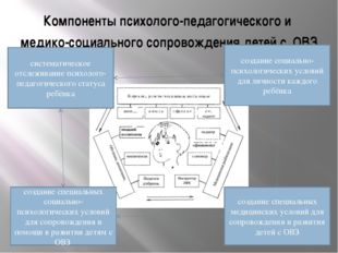Компоненты психолого-педагогического и медико-социального сопровождения детей