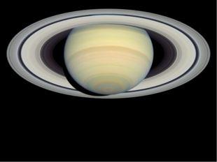 Сатурн обладает заметной кольцевой системой, состоящей главным образом из час