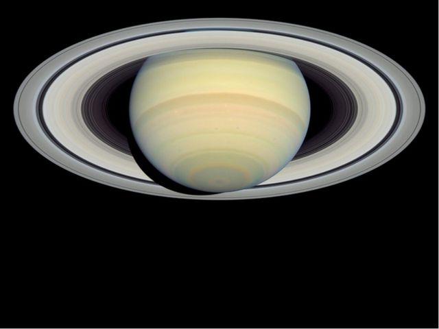 Сатурн обладает заметной кольцевой системой, состоящей главным образом из час...