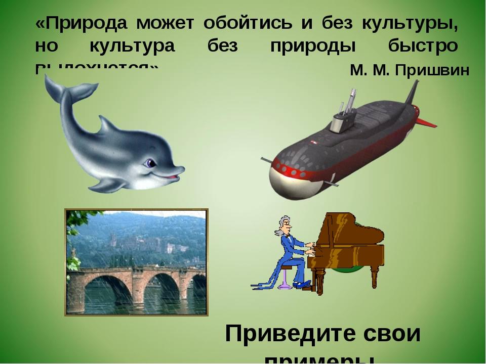 «Природа может обойтись и без культуры, но культура без природы быстро выдохн...