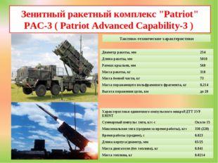 """Зенитный ракетный комплекс """"Patriot"""" PAC-3 ( Patriot Advanced Capability-3 )"""
