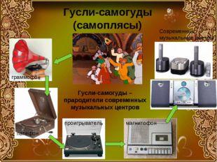 Гусли-самогуды (самоплясы) граммофон патефон проигрыватель магнитофон Совреме