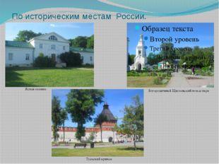 По историческим местам России. Ясная поляна Тульский кремль Богородичный Щегл