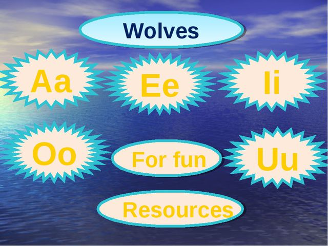 Wolves Aa Ee Ii Oo For fun Uu Resources