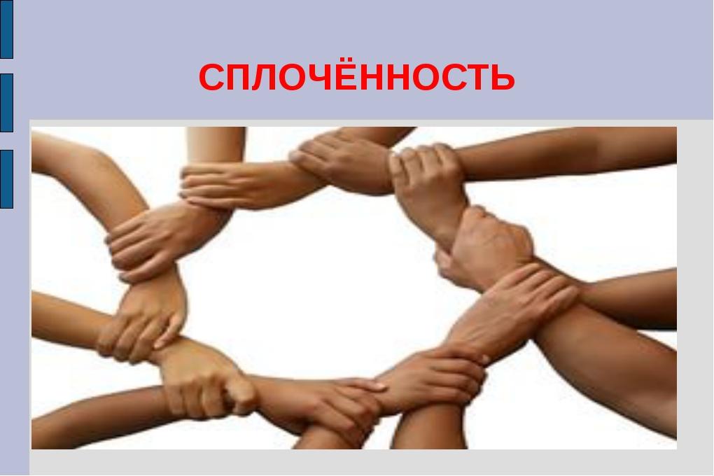 СПЛОЧЁННОСТЬ