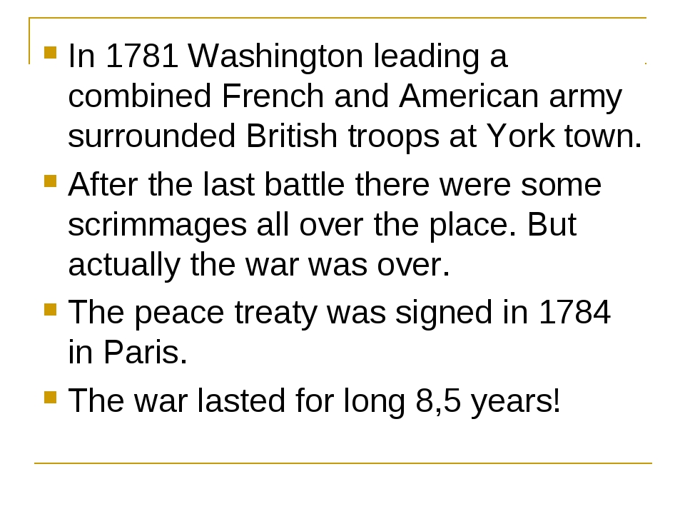 In 1781 Washington leading a combined French and American army surrounded Bri...