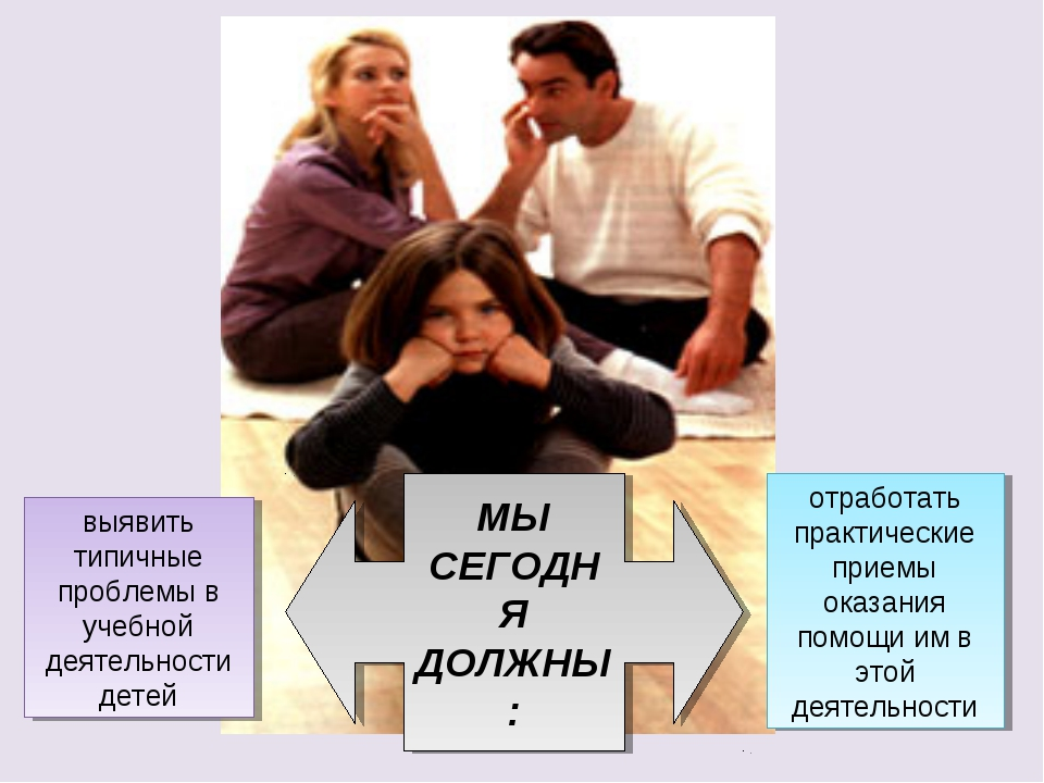 выявить типичные проблемы в учебной деятельности детей отработать практически...