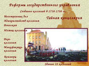 Реформы государственного управления Создание коллегий в 1718-1720 гг. Здание