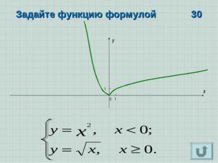 x y 0 1 1 Задайте функцию формулой 30
