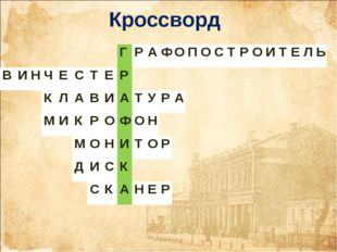 Кроссворд ГРАФОПОСТРОИТЕЛЬ ВИНЧЕСТЕР КЛАВИА
