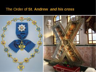 The Order ofSt.Andrew and his cross