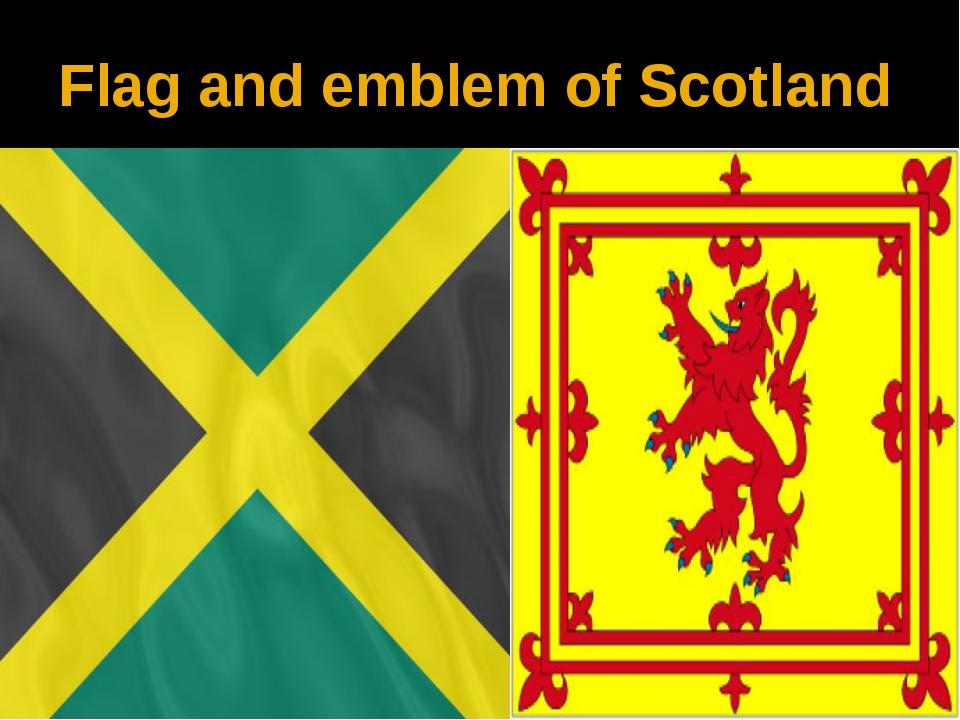 Flag and emblem of Scotland