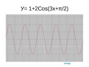 У= 1+2Cos(3х+π/2) назад