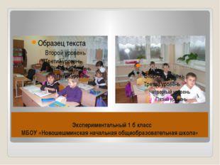 Экспериментальный 1 б класс МБОУ «Новошешминская начальная общеобразовательн