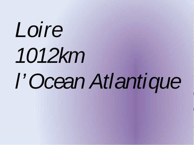 Loire 1012km l'Ocean Atlantique