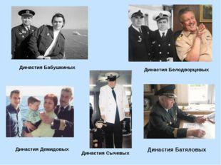 Династия Бабушкиных Династия Белодворцевых Династия Демидовых Династия Сычевы