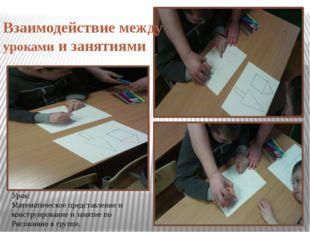 Взаимодействие между уроками и занятиями Урок: Математическое представление и