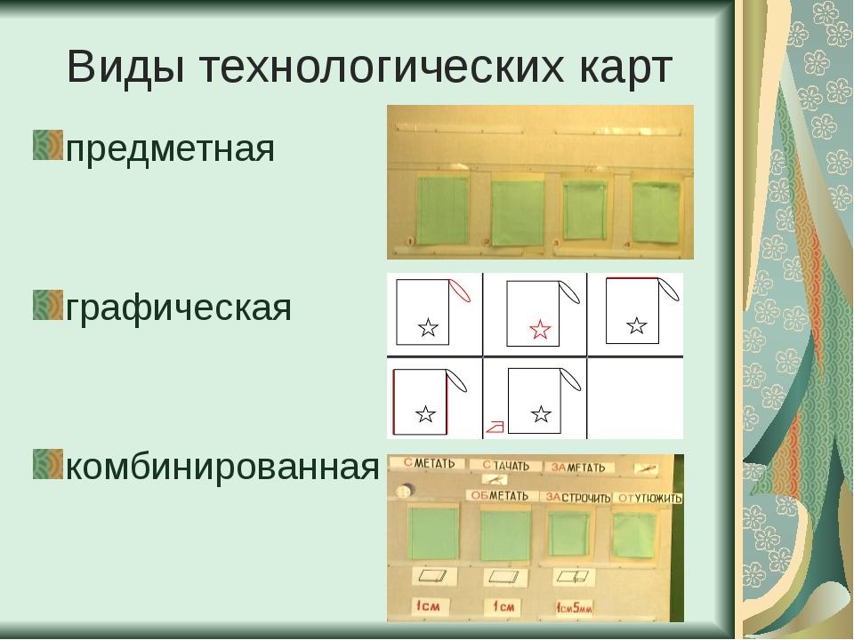 Виды технологических карт предметная графическая комбинированная