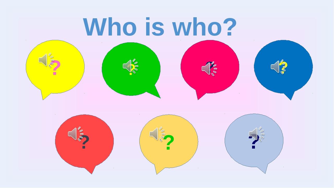By Nooshin ShahMansoori Who is who? ? ? ? ? ? ? ?