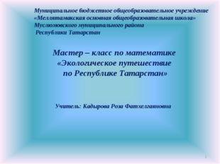 * Муниципальное бюджетное общеобразовательное учреждение «Меллятамакская осно