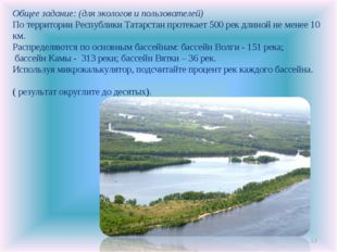 * Общее задание: (для экологов и пользователей) По территории Республики Тата