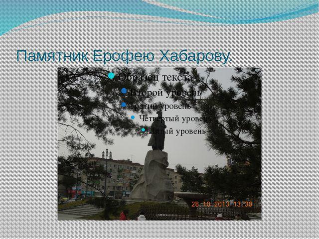 Памятник Ерофею Хабарову.
