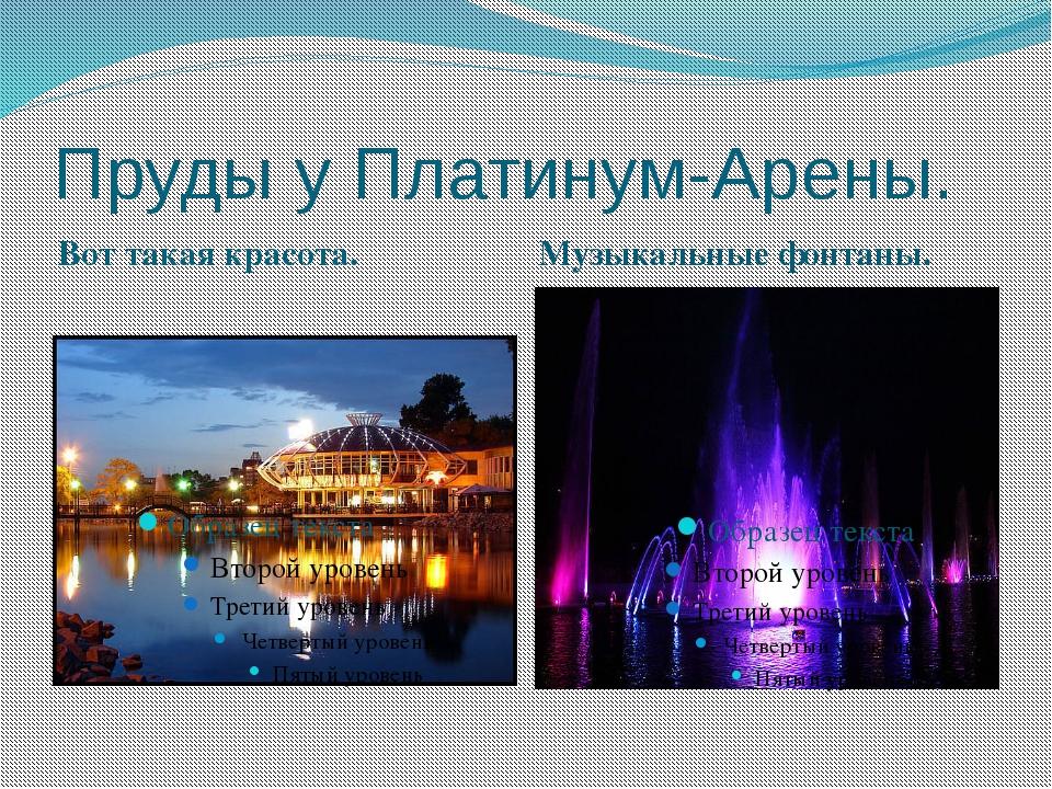 Пруды у Платинум-Арены. Вот такая красота. Музыкальные фонтаны.