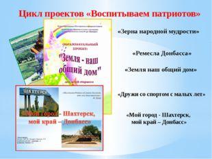Цикл проектов «Воспитываем патриотов» «Земля наш общий дом» «Зерна народной м