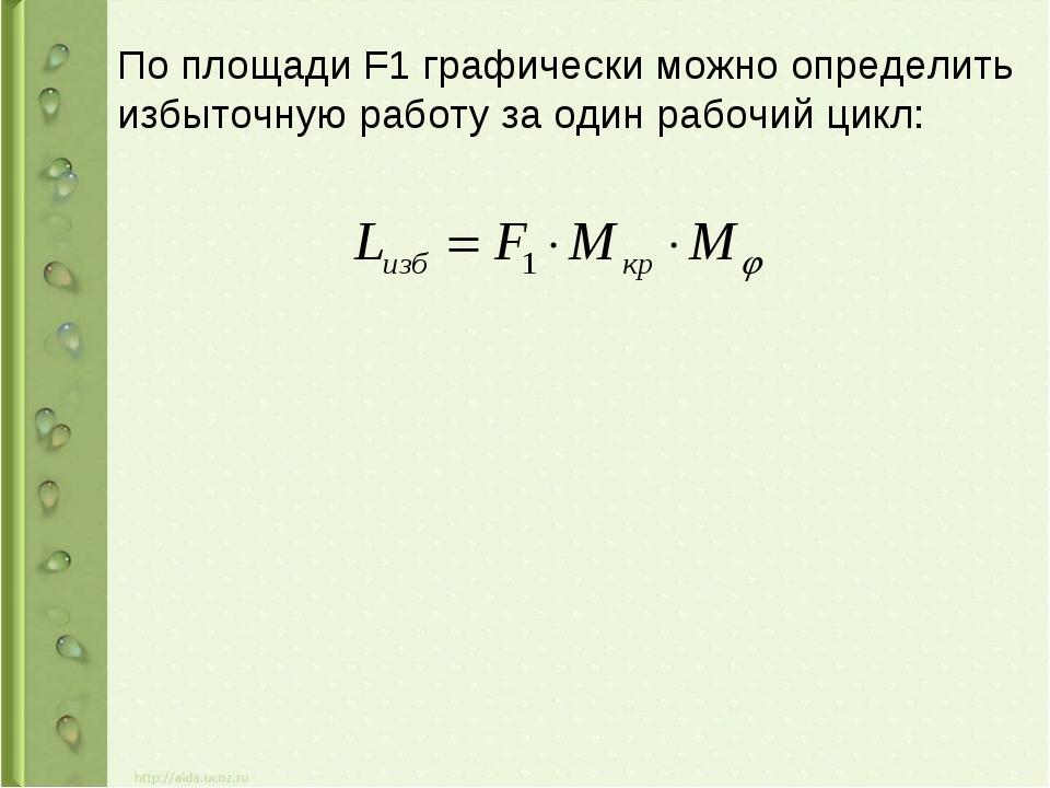 По площади F1 графически можно определить избыточную работу за один рабочий ц...