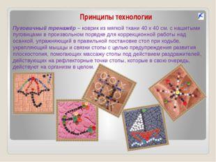 Принципы технологии Пуговичный тренажёр – коврик из мягкой ткани 40 х 40 см.