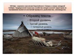 НЕНЦЫ- коренное население Европейского Севера и севера западной Сибири.Трад
