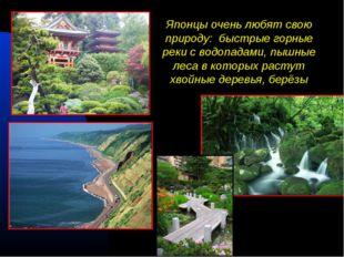 Японцы очень любят свою природу: быстрые горные реки с водопадами, пышные лес