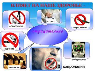 отрицательно Отказ от вредных привычек Режим дня копролалия кибермания нарко