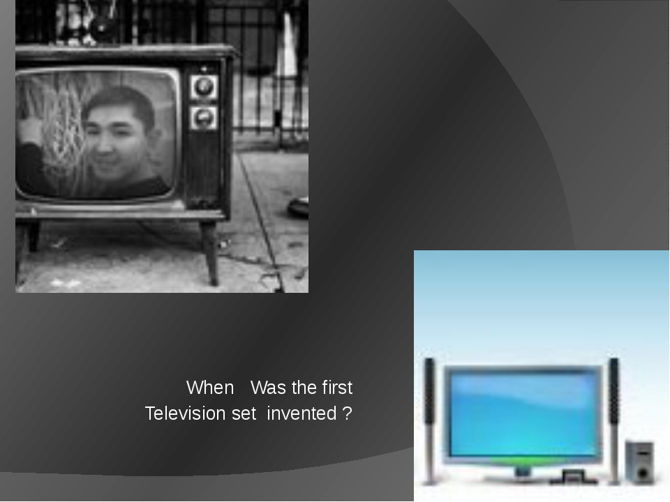 When Was the first Television set invented ?