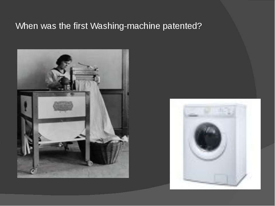 When was the first Washing-machine patented?