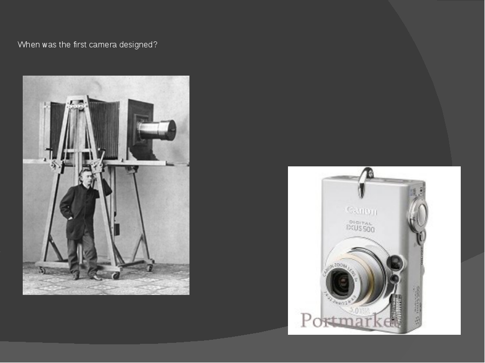 When was the first camera designed?