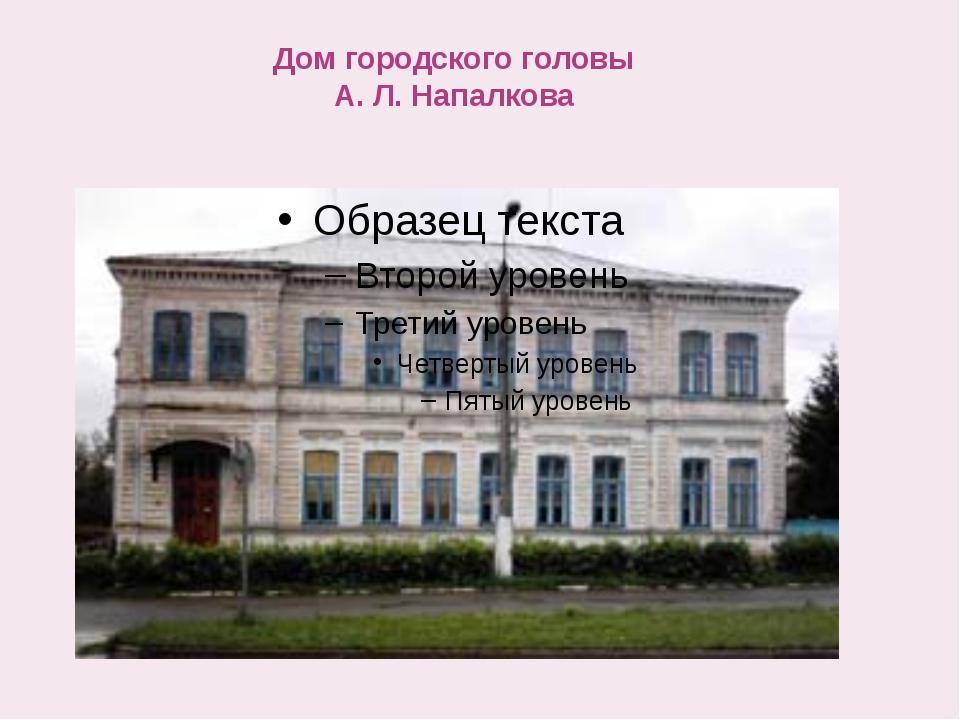 Дом городского головы А. Л. Напалкова