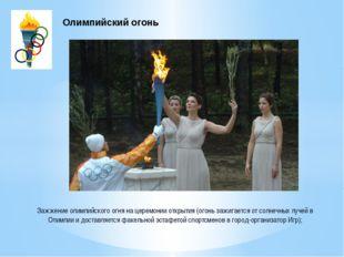 Зажжение олимпийского огня на церемонии открытия (огонь зажигается от солнечн