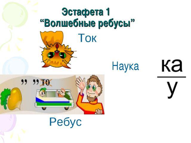 """Эстафета 1 """"Волшебные ребусы"""" Ток  Наука Ребус"""