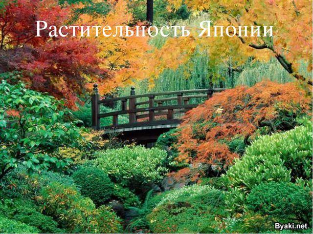Растительность Японии