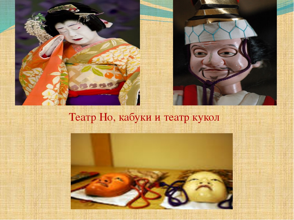Театр Но, кабуки и театр кукол