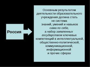 Россия Основным результатом деятельности образовательного учреждения должна с